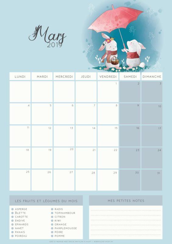 Imprime ton calendrier au format PDF