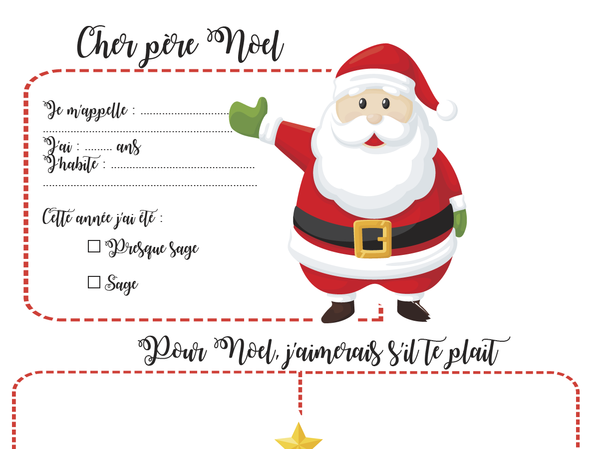 Site Lettre Au Pere Noel.Lettre Au Pere Noel A Imprimer Plume Picoti