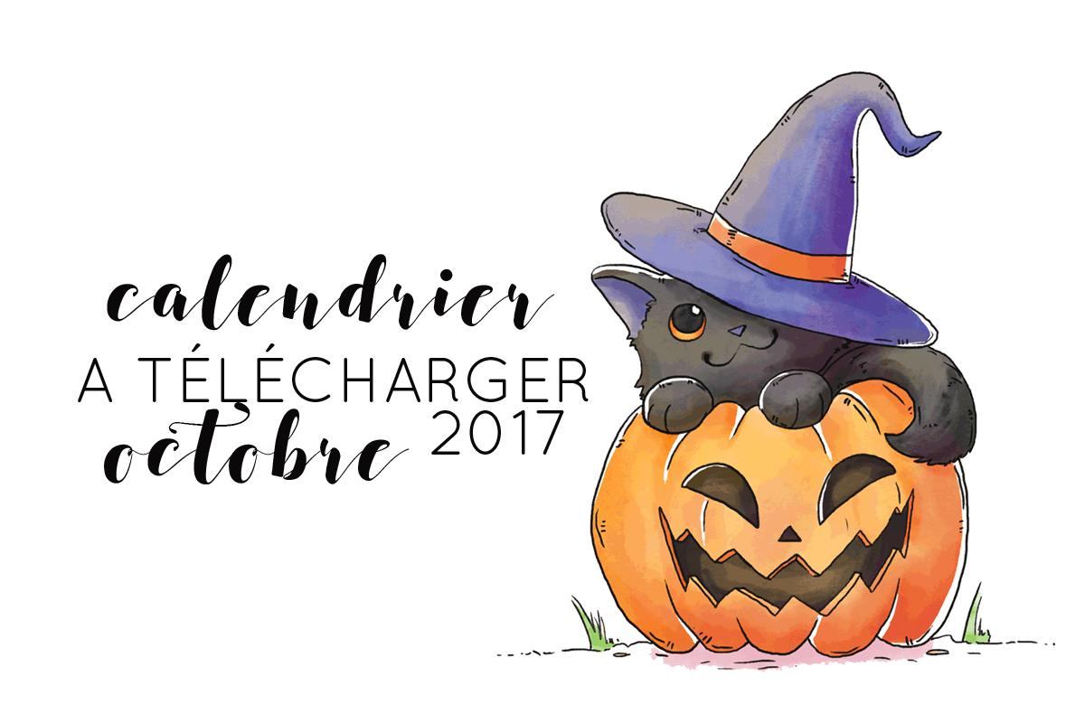 Calendrier d'Octobre 2017 à imprimer