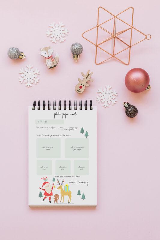 La lettre au Père Noël à imprimer