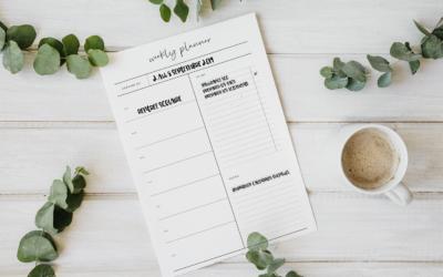 Une organisation au top avec le Weekly Planner