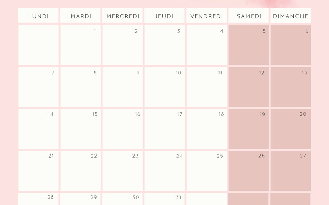Octobre Calendrier 2019.Calendriers Archives Plume Picoti